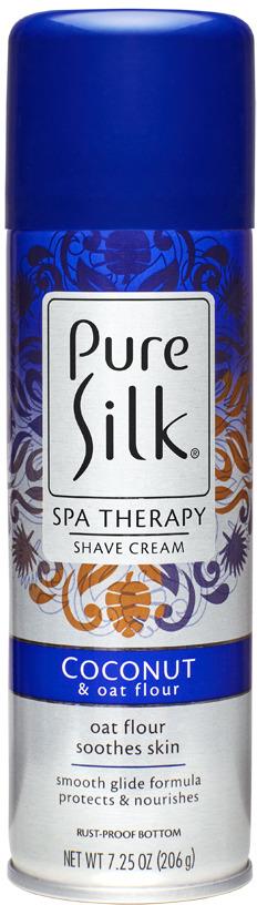 Крем-пена для бритья Barbasol Pure Silk Coconut and Oat Flour Shave Cream, c экстрактом кокоса и овса, 206 г