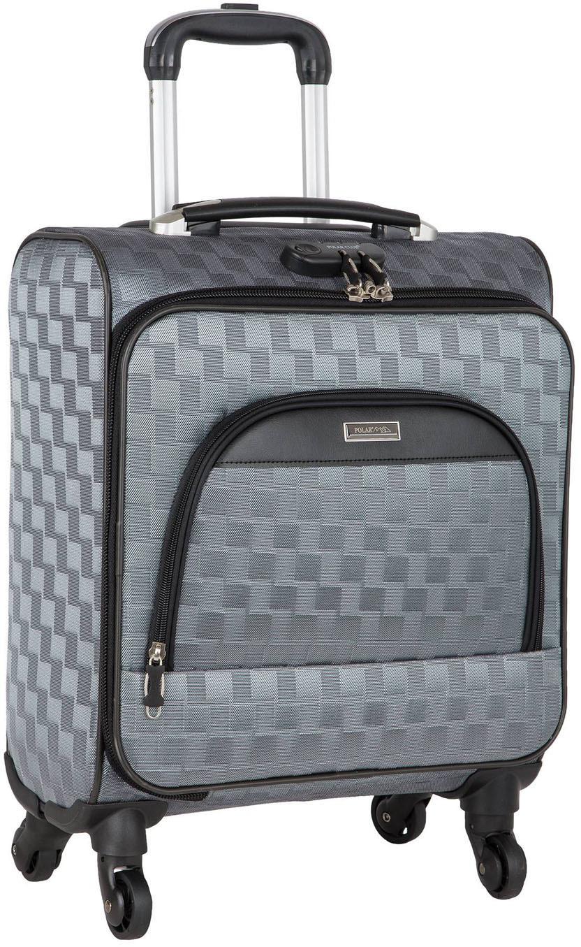 Чемодан Polar Пилот, четырехколесный, цвет: серый, 36 л чемодан samsonite orfeo цвет серебристо голубой 72 л cc4 25002