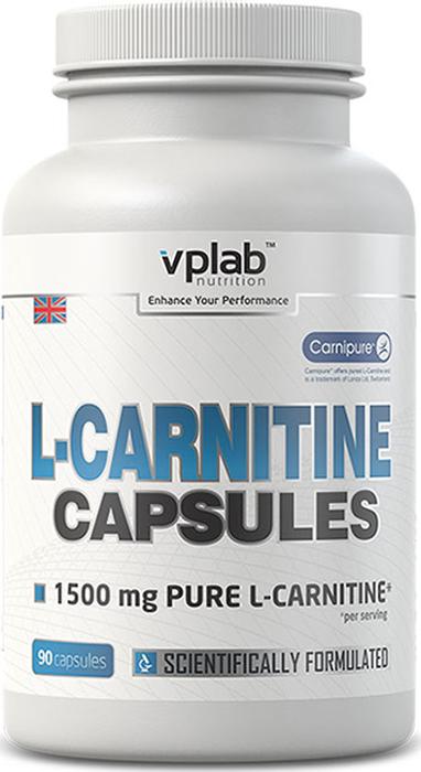 Карнитин (L-карнитин) VPLab L-Carnitine Capsules 90 капсул l карнитин sport victory nutrition premium l carnitine 3600 клубника 25 мл 20 шт