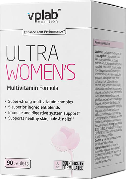 """Оптимально подобранный высокотехнологичный комплекс натуральных витаминов, минералов и других питательных веществ Vplab """"Ultra Women"""