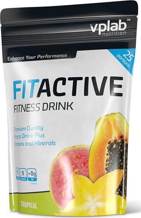 "Изотоник Vplab ""Fitactive Fitness Drink"", тропик, 500 г, VPLAB Nutrition"