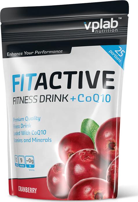 "Изотоник VPLab ""FitActive Fitness Drink +CoQ10"", клюква, 500 г, VPLAB Nutrition"