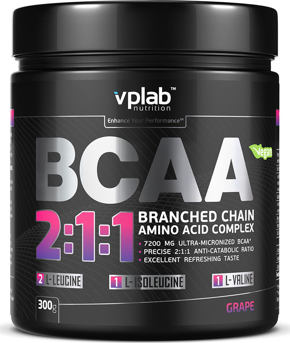 """Аминокислотный комплекс Vplab """"BCAA 2:1:1"""", виноград, 300 г, VPLAB Nutrition"""