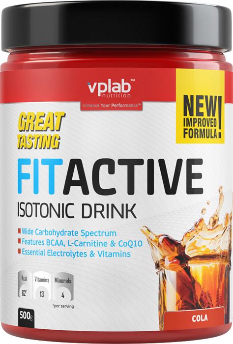 "Изотоник Vplab ""FitActive"", кола, 500 г, VPLAB Nutrition"
