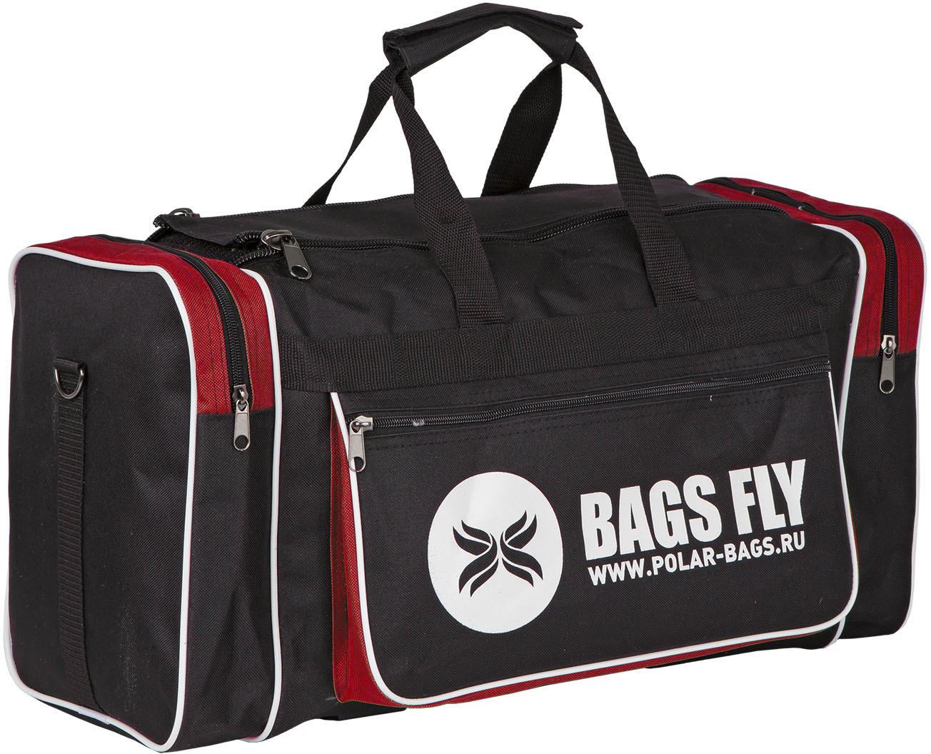 Сумка спортивная Polar, цвет: черный, красный, 30,5 л рюкзак polar polar po001buawne5