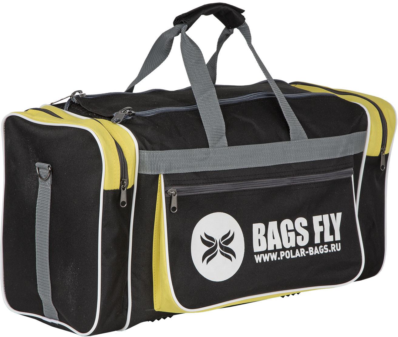 Сумка спортивная Polar, цвет: черный, желтый, серый, 30,5 л рюкзак polar polar po001burvn31