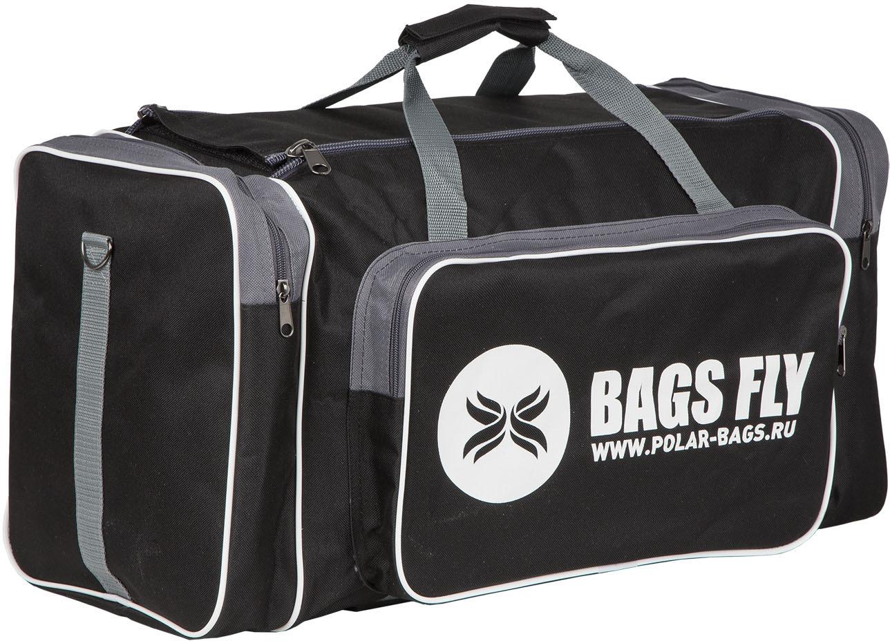 Сумка дорожная Polar, цвет: черный, серый, 50 л сумка спортивная мужская adidas cvrt 3s duf m цвет черный 37 л cg1533