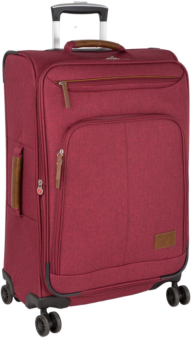 Чемодан Polar, четырехколесный, с увеличением объема, цвет: красный, 65 л чемодан samsonite uplite цвет красный 38 5 л 99d 00005