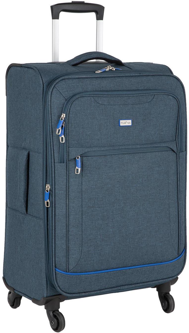 Чемодан Polar, четырехколесный, цвет: темно-синий, 67,6 л чемодан samsonite uplite цвет красный 38 5 л 99d 00005