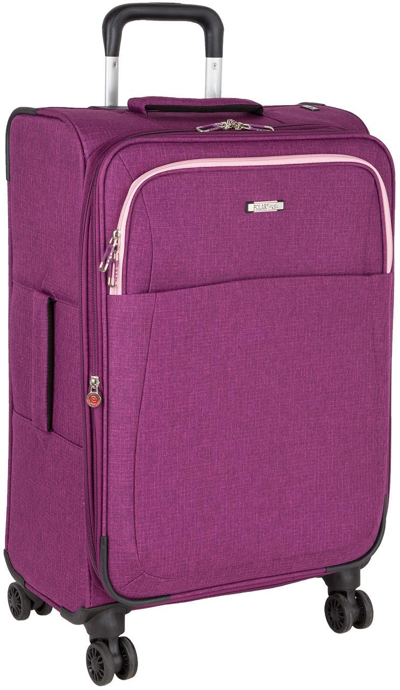 Чемодан Polar, четырехколесный, с увеличением объема, цвет: фиолетовый, 96,6 л чемодан samsonite uplite цвет красный 38 5 л 99d 00005
