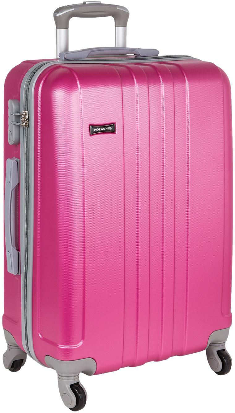 Чемодан Polar, четырехколесный, цвет: розовый, 94 л