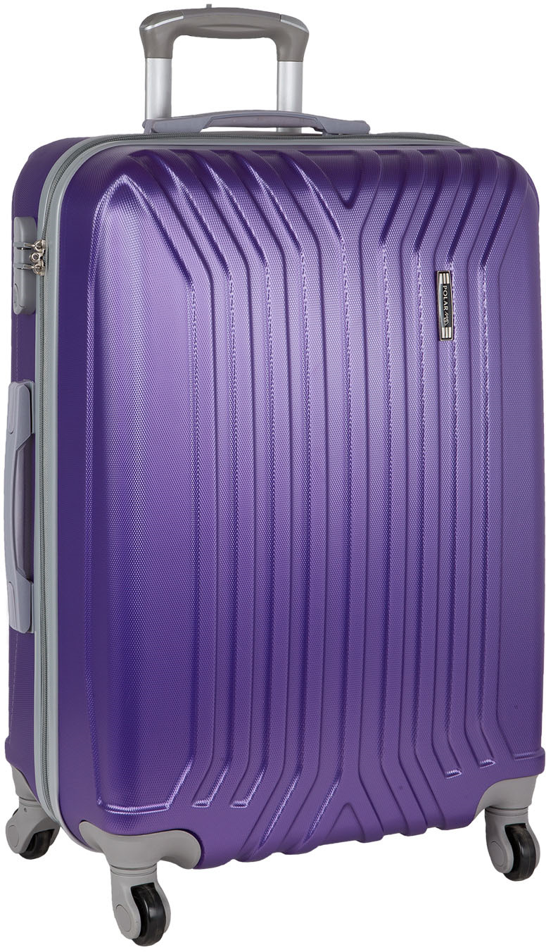 Чемодан Polar, четырехколесный, цвет: фиолетовый, 111 л