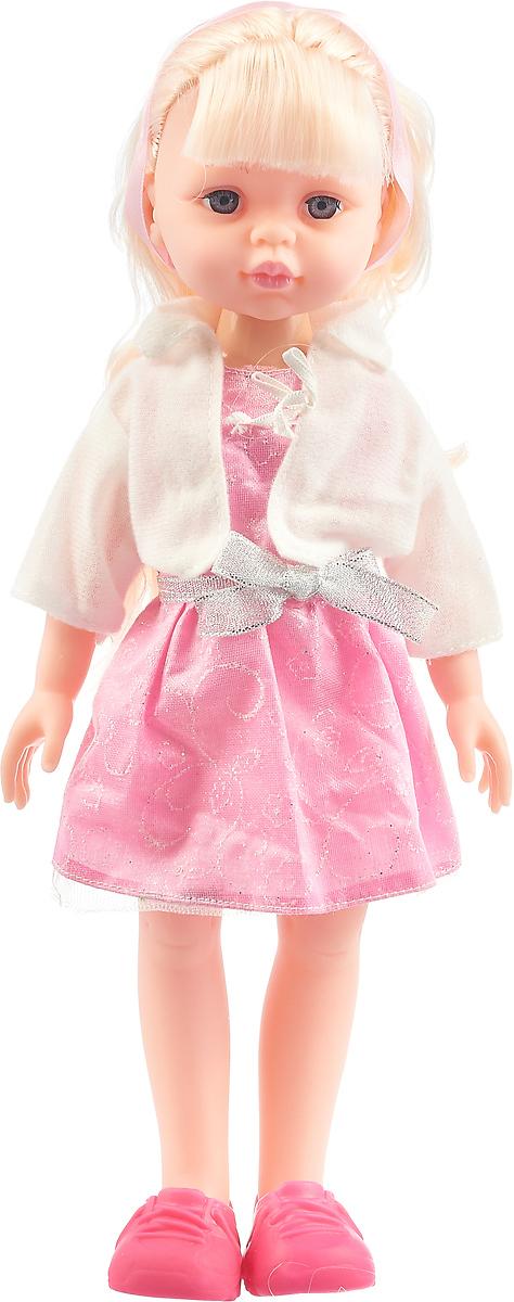Кукла Карапуз, озвученная, цвет платья: розовый, 32 см yako кукла софи цвет платья бордовый
