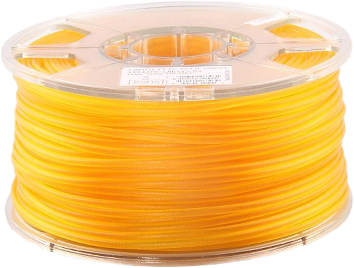 Катушка PETG-пластика ESUN PETG175Y1, 1.75 мм, 1 кг, цвет: желтый abs 1 75 3d 395m