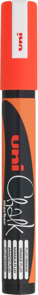 все цены на Маркер меловой Uni, PWE-5M цвет: оранжевый, 1,8-2,5 мм