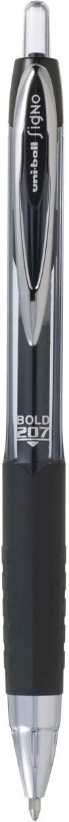 Ручка гелевая Uni, UMN-207 автоматическая, цвет чернил: черный музыка и многое другое ohto cb 10dd кристалл алмаза ручка серебро керамические бусины 0 5мм черный full metal сделано в японии
