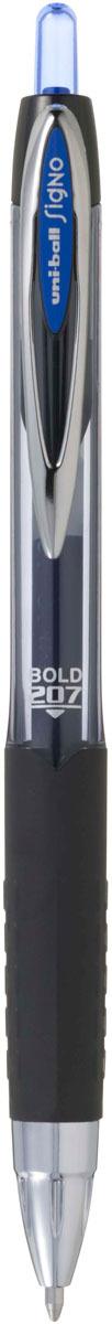 Ручка гелевая Uni, UMN-207 автоматическая, цвет чернил: синий музыка и многое другое ohto cb 10dd кристалл алмаза ручка фиолетовый керамические бусины 0 5мм черный full metal сделано в японии