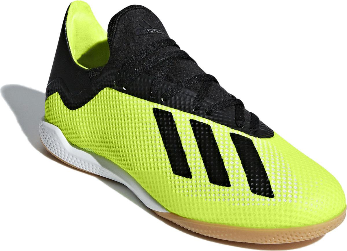 все цены на Бутсы для футзала мужские Adidas X Tango 18.3 In, цвет: салатовый. DB2441. Размер 9 (42) онлайн