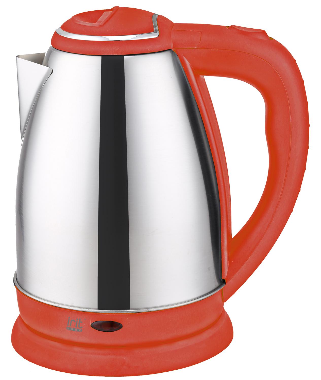 Чайник электрический Irit IR-1346, цвет: красный лопата туристическая с деревянным черенком
