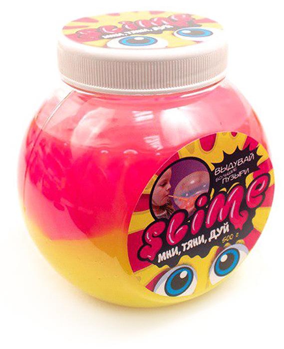 Жвачка для рук Slime Mega Mix, цвет: розовый, желтый, 500 г блуза com mix цвет розовый