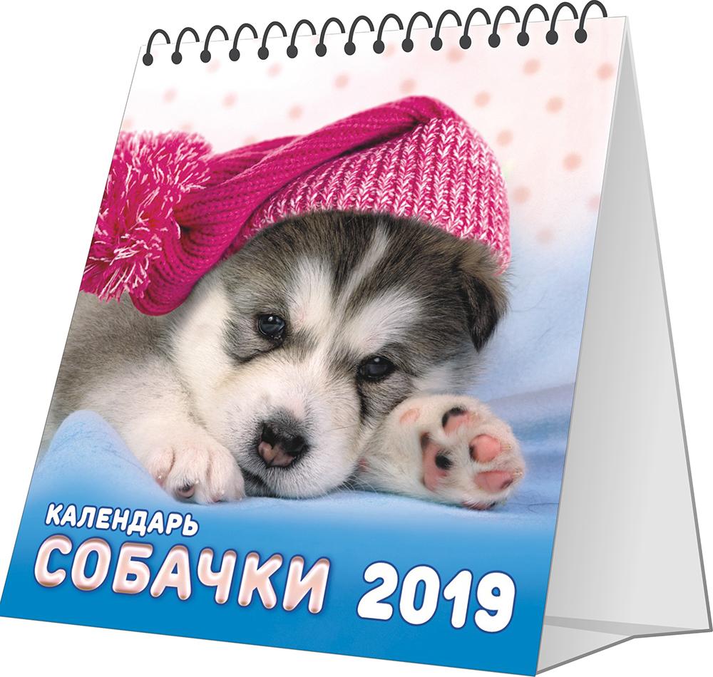 Перекидной календарь-домик 2019. Собаки