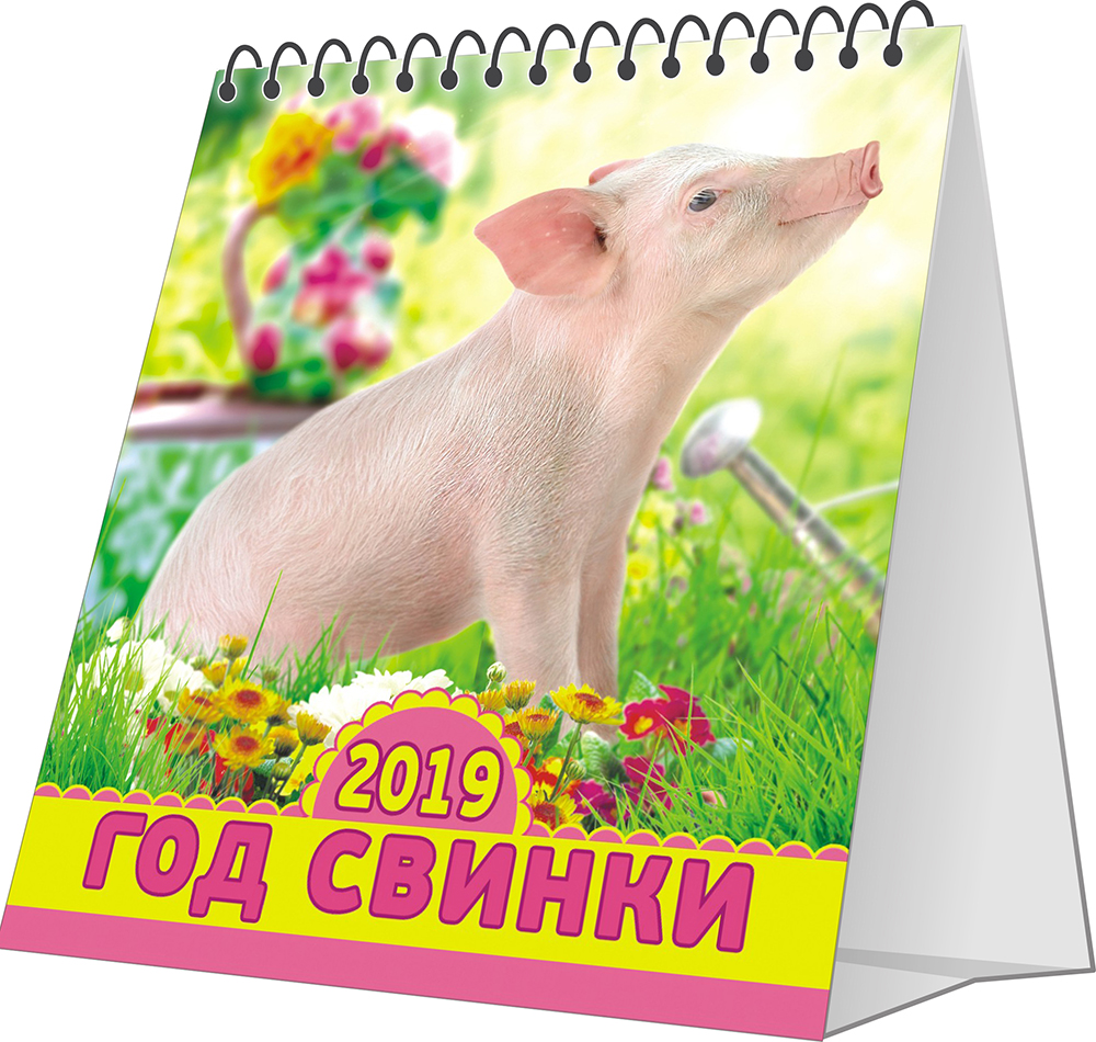 Перекидной календарь-домик 2019. Символ года