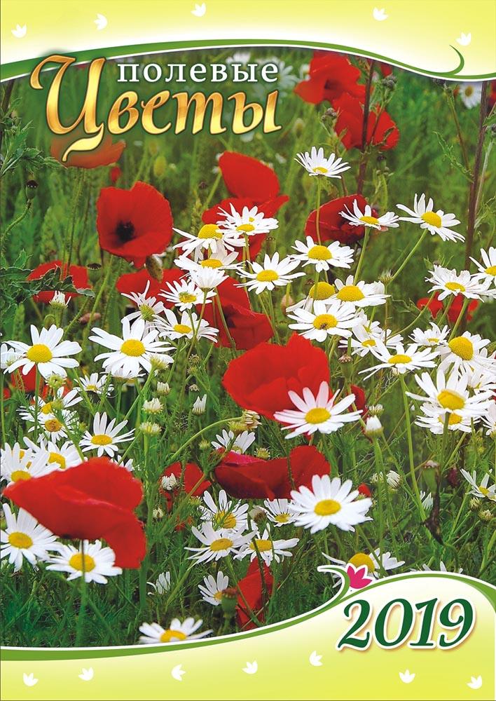 Календарь на 2019 год (на ригеле). Полевые цветы