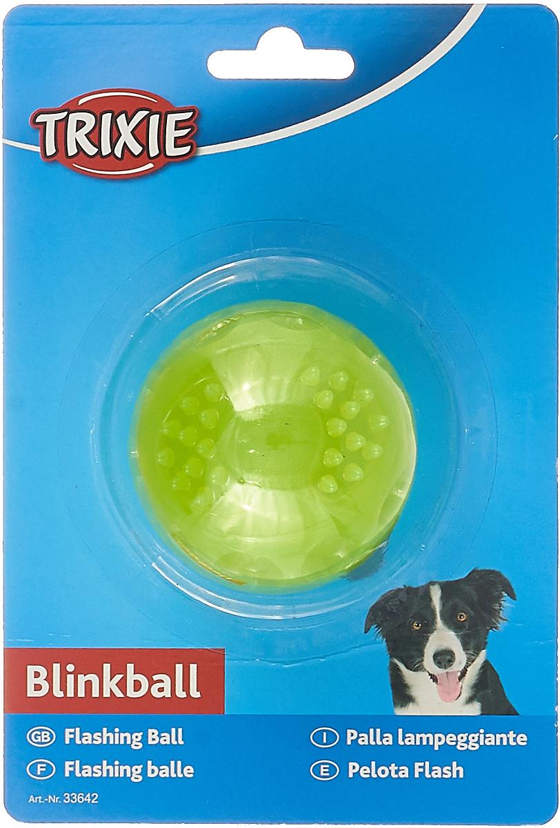 Игрушка Trixie Мяч светящийся, цвет: желтый, диаметр 5,5 см