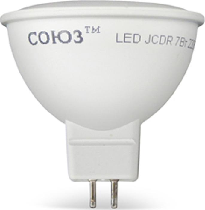Лампа светодиодная СОЮЗ, акцентного освещения, теплый свет, цоколь GU5.3, 7W, 2700K, 550лм