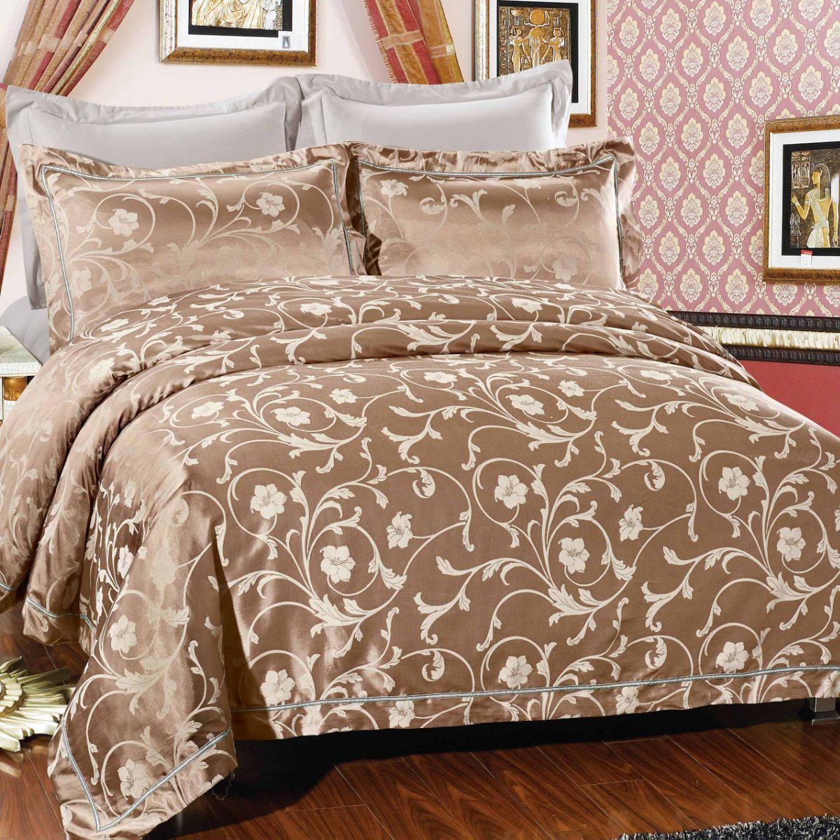 цена на Комплект постельного белья Letto, евро, наволочки 50х70, 70х70, AJ26-6