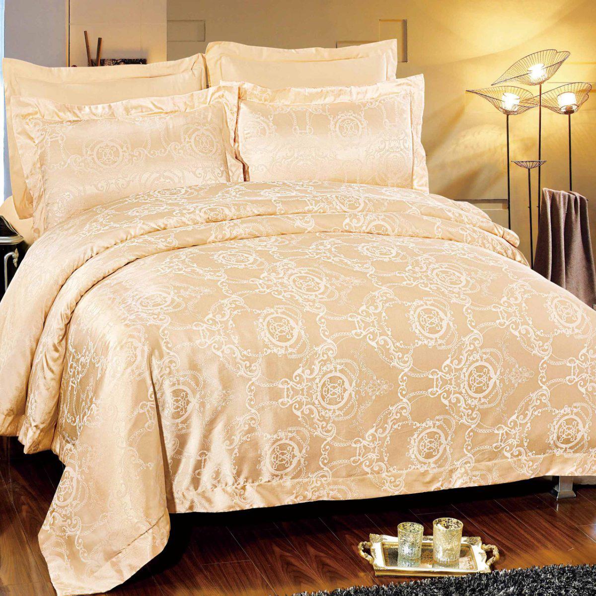 цена на Комплект постельного белья Letto, евро, наволочки 50х70, 70х70, AJ29-6