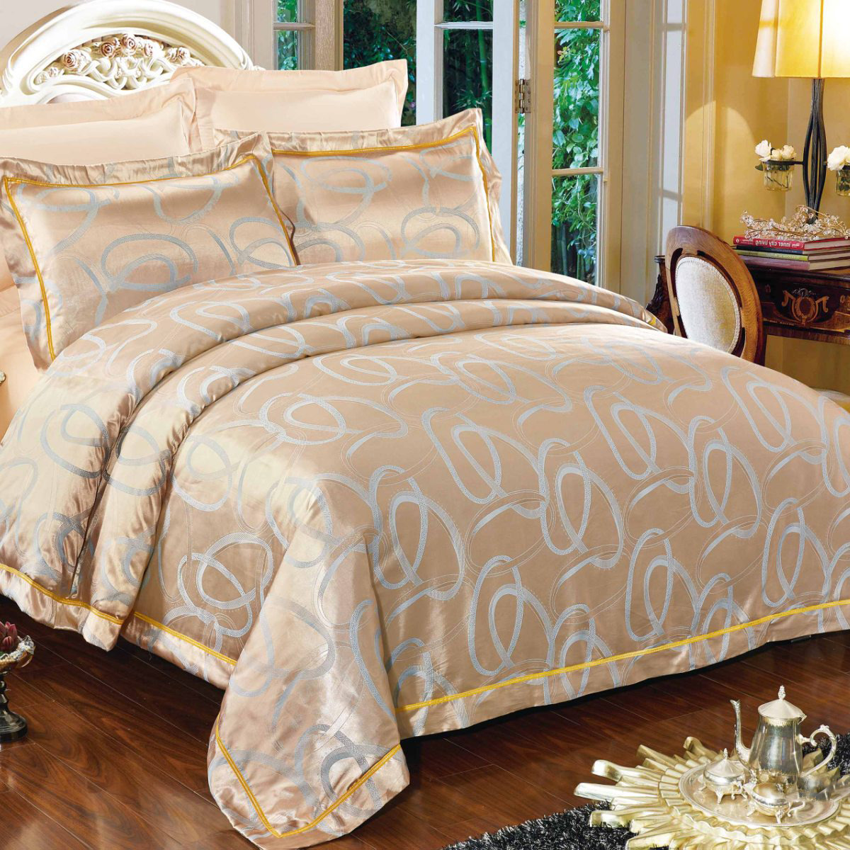 цена на Комплект постельного белья Letto, евро, наволочки 50х70, 70х70, AJ31-6