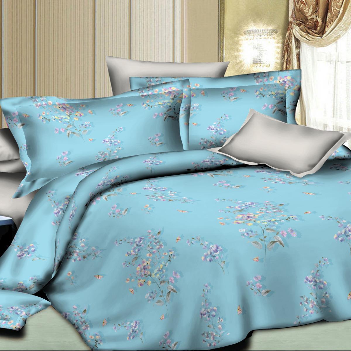 Комплект постельного белья Letto, 2-спальный, наволочки 50х70. SM96-4 комплект постельного белья 2 спальный из сатина seta цвет голубой розовый
