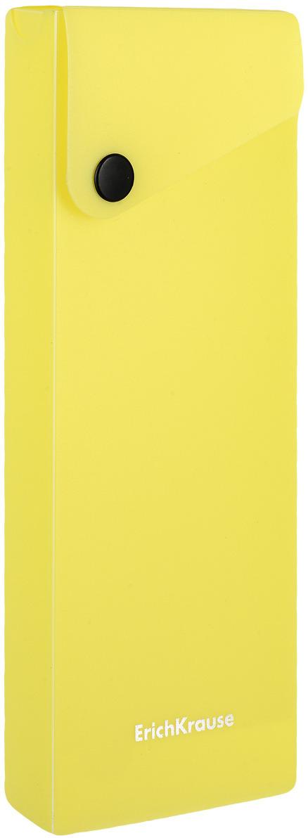 Пенал Erich Krause Neon, цвет: желтый erich krause угольник clear 60 градусов 225 мм