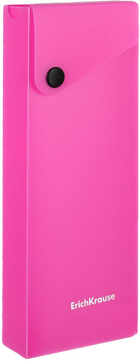 Пенал Erich Krause Neon, цвет: фиолетовый erich krause пенал книжка clever dog