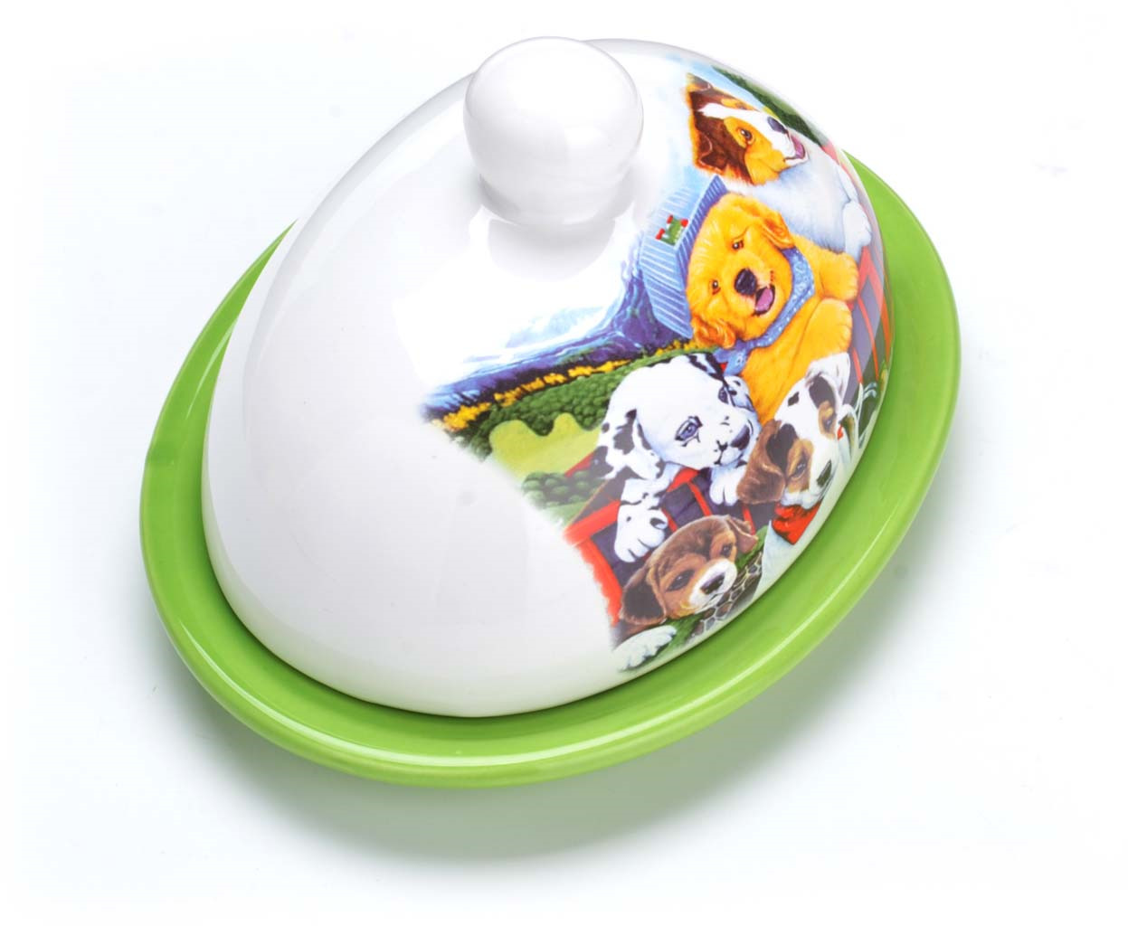 Масленка Loraine, выполненная из качественной доломитовой БИО и ЭКО керамики, станет украшением интерьера вашей кухни. Керамика - это экологически чистый материал, который не наносит вред Вашему здоровью. Кроме того, этот материал защищает продукты и пищу от образования вредных бактерий. Масленка надежно закрывается керамической крышкой и прекрасно подойдет для хранения и сервировки масла, сыра, творога. Масленка рассчитана примерно на 200 г. масла. Пригодна для использования в холодильнике, морозильнике, микроволновой печи. Подходит для мытья в посудомоечной машине.