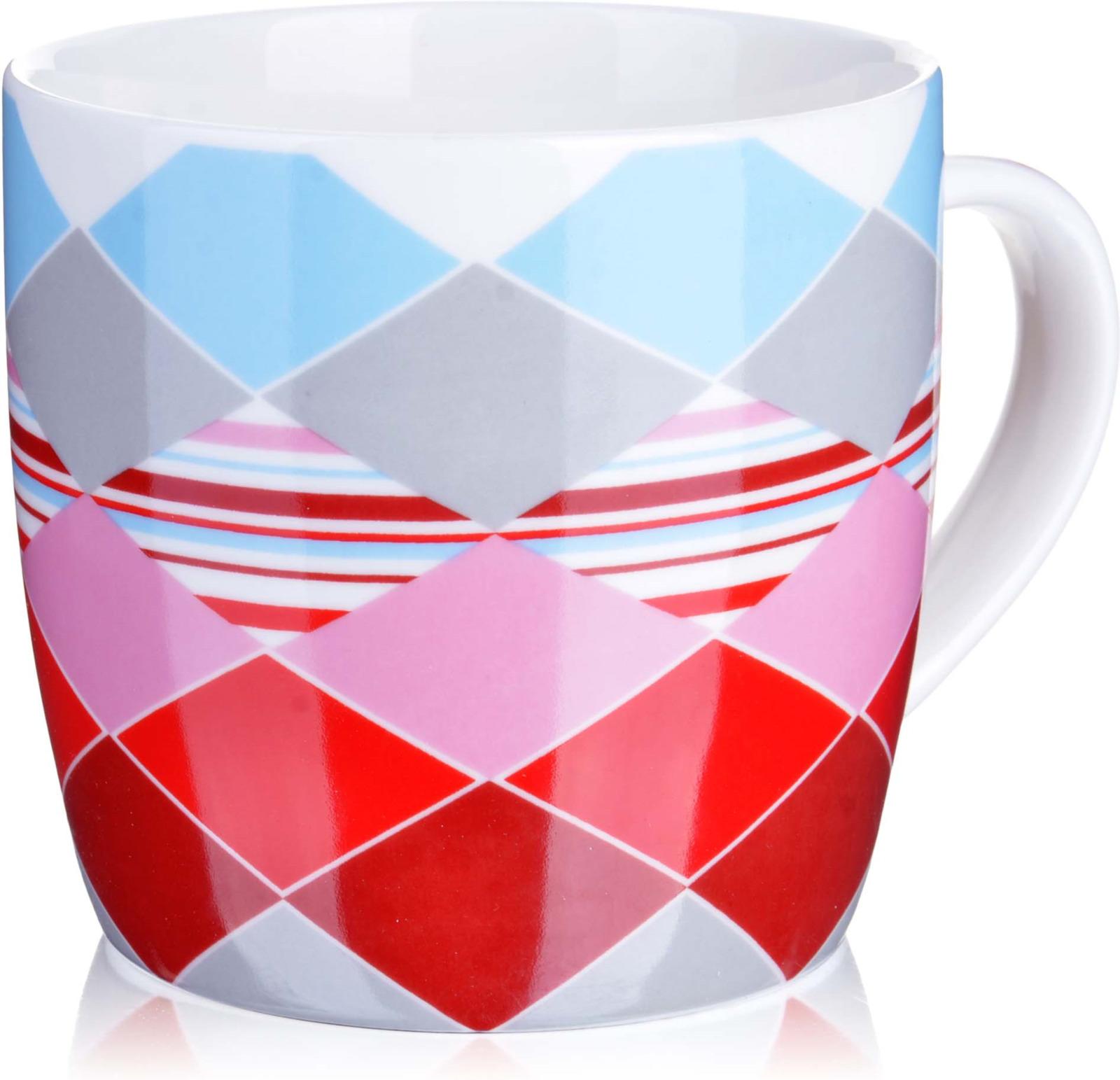 Кружка Loraine, цвет: белый, голубой, розовый, красный, 320 мл. у3700 кружка loraine i love you цвет белый красный розовый 320 мл