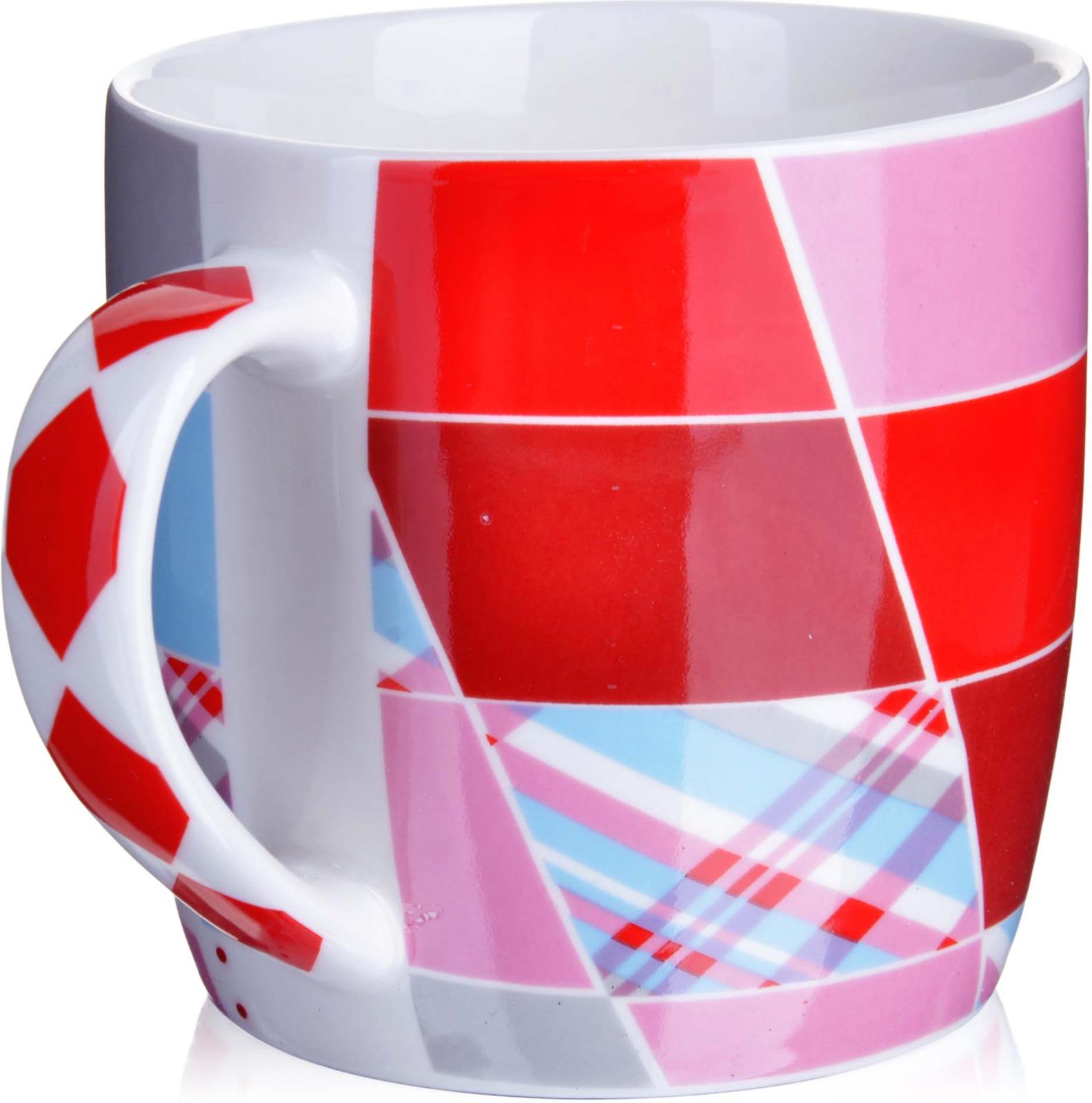 Кружка Loraine, цвет: белый, голубой, розовый, красный, 320 мл. у3699 кружка loraine i love you цвет белый красный розовый 320 мл