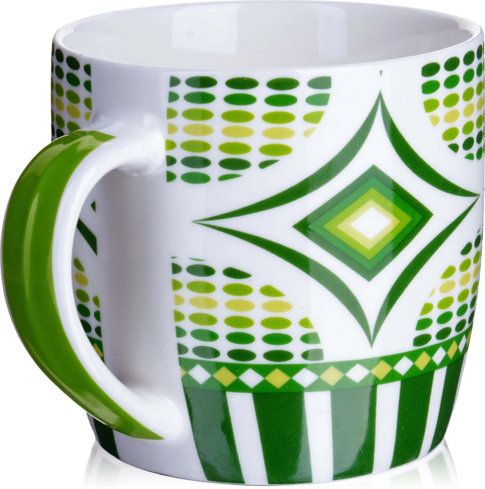 Кружка Loraine, цвет: белый, салатовый, зеленый, 320 мл кружка asa selection coppa цвет салатовый белый 410 мл 19100 801