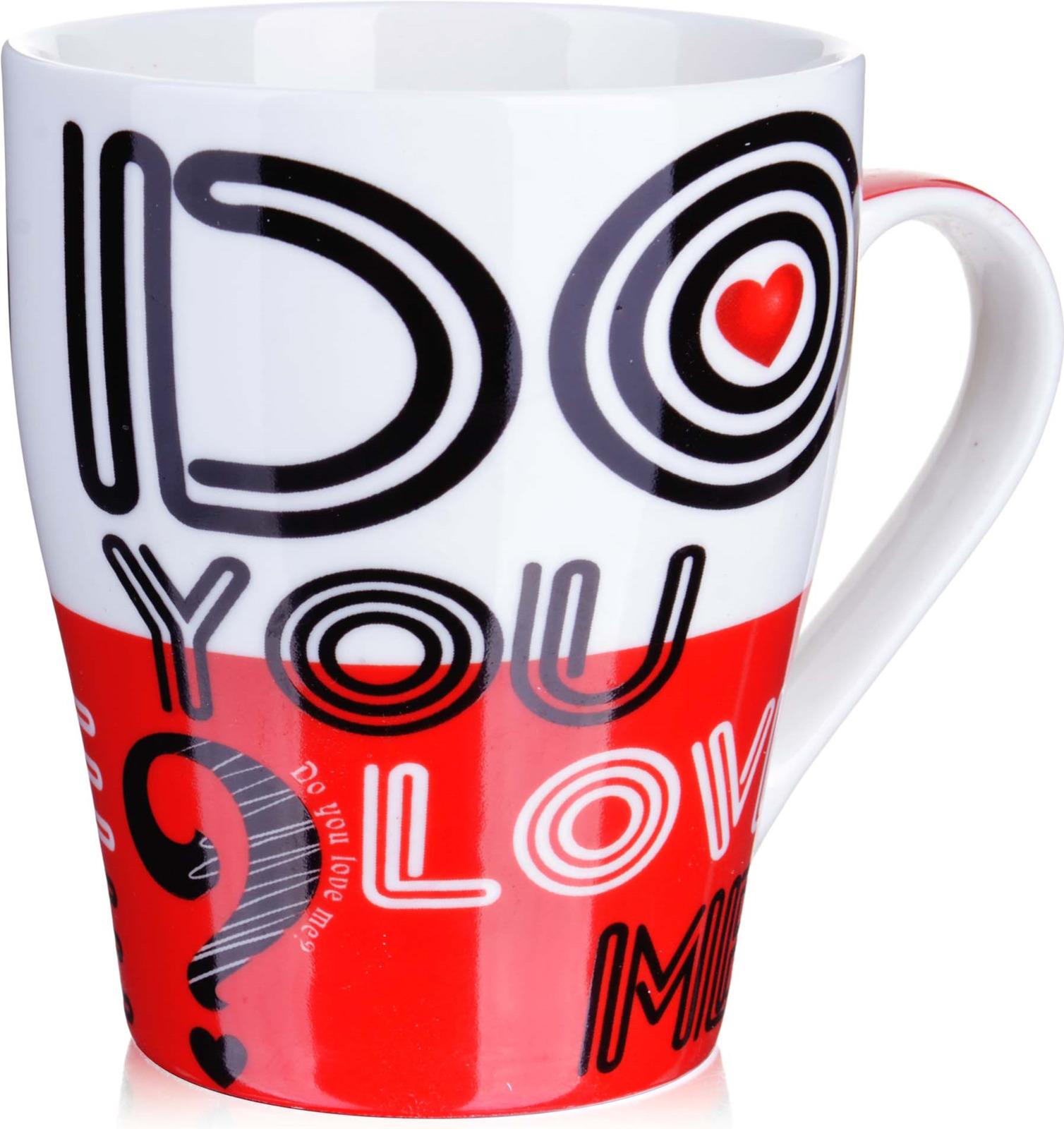 Кружка Loraine I Love You, цвет: белый, красный, черный, 340 мл. у3705 кружка loraine i love you цвет белый красный розовый 320 мл