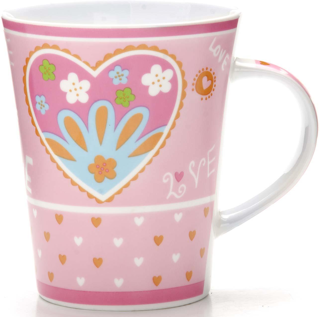 Кружка, выполненная из керамики в оригинальном дизайне, станет красивым и полезным подарком для ваших родных и близких. Керамика - один из самых древних материалов, который использовали наши предки для изготовления посуды. С древних времен и до наших дней, керамическая посуда занимала важное место на кухне многих хозяек. Сегодня керамическая посуда по-прежнему пользуется большой популярностью и это не удивительно, ведь керамика - экологически чистый материал, который не наносит вреда здоровью, а кроме того керамическая посуда отличается большим разнообразие, поэтому каждый может выбрать изделие по своему вкусу. Кружка украшена ярким рисунком и имеет удобную ручку. В подарочной упаковке. Кружка Loraine - идеальный подарок для ваших близких и ваших друзей. Подходит для мытья в посудомоечной машине.