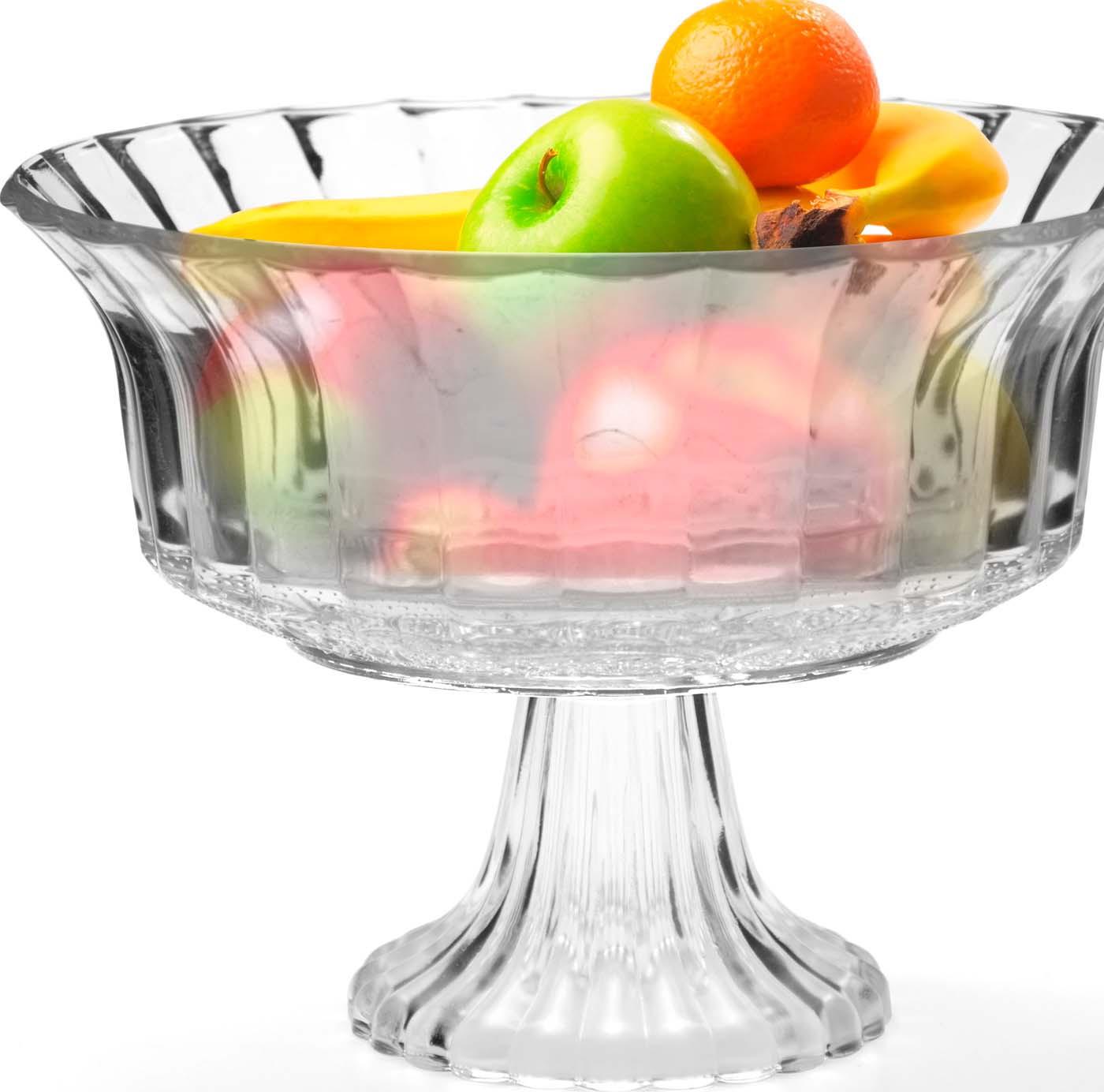 Глубокая ваза для фруктов Mayer & Boch выполнена из высококачественного стекла. Изделие декорировано изящным резным рельефом и сочетает в себе изысканный дизайн с максимальной функциональностью. Оформление вазы придется по вкусу ценителям классики и изящности. Ваза для фруктов Mayer & Boch послужит отличным подарком к любому празднику, а также добавит элегантности и уюта любому праздничному столу! Посуда обладает гладкой непористой поверхностью и не впитывает запахи, ее легко и просто мыть. Подходит для мытья в посудомоечной машине.
