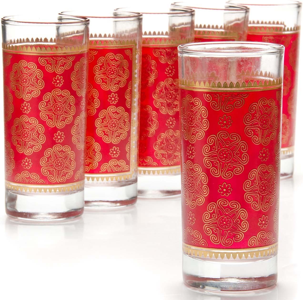 Набор выполнен из прочного высококачественного стекла, декорированного красочным рисунком в мягких тонах. Данный набор предназначен для подачи на стол воды, сока, морса и других напитков, его красивое оформление придется по вкусу всем без исключения. Такой набор послужит отличным подарком к празднику, а также добавит элегантности любому праздничному столу! Набор состоит из 6-ти стаканов объемом в 285 мл и кувшина с крышкой, объемом 1300 мл. Посуда обладает гладкой непористой поверхностью, не впитывает запахи, легко моется.