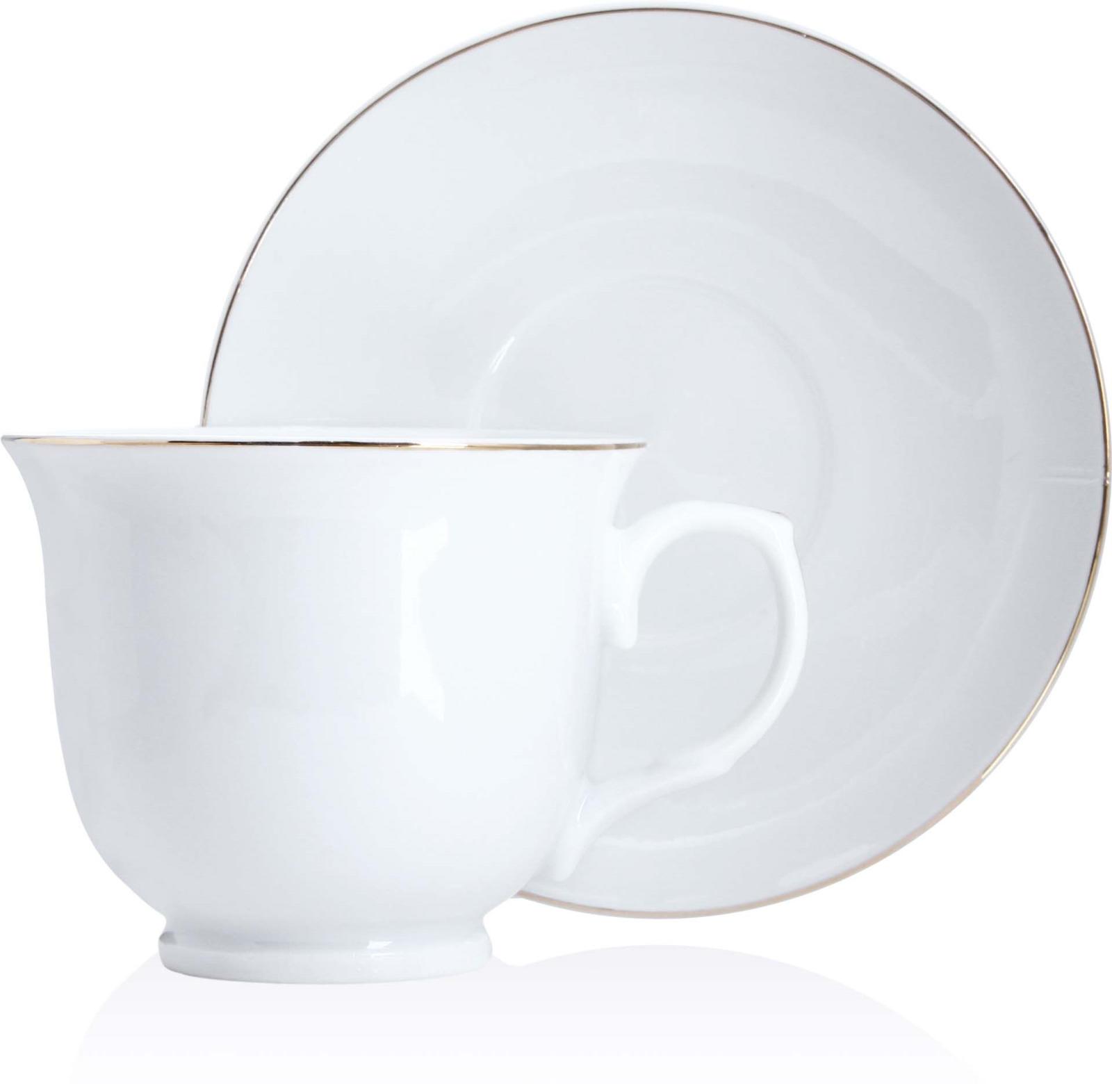 Чайная пара Loraine, цвет: белый, 220 мл, 2 предмета цена