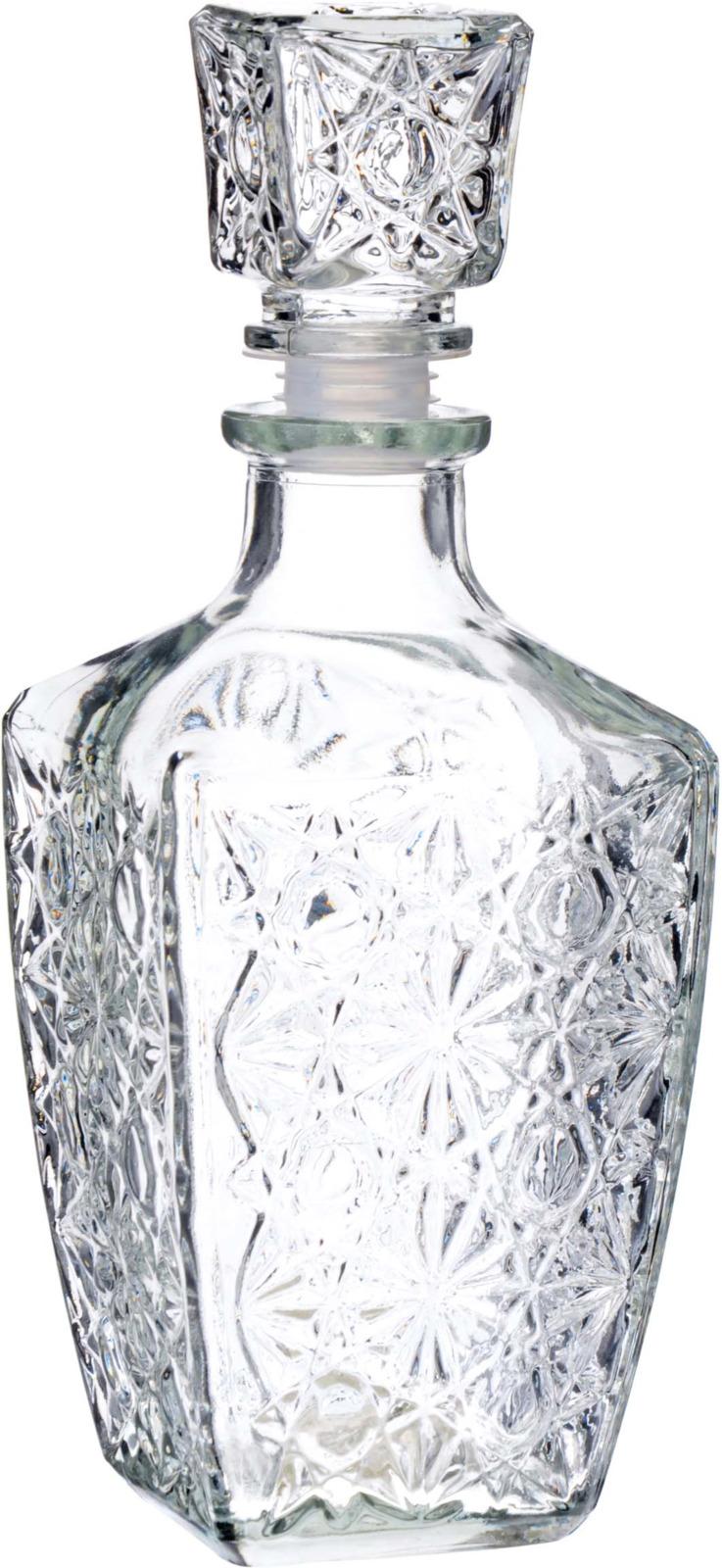 Бутылка Loraine представляет из себя классический штоф для холодных напитков. Выполненная из высококачественного стекла и украшенная красивым рельефным узором, бутылка оснащена плотно закрывающейся стеклянной пробкой, которая не позволит выдохнуться аромату Ваших напитков. Элегантный дизайн изделия украсит собой любой праздничный стол, в таком штофе Вы сможете подать вино, морс, различные наливки и ликеры, цвет которых будет играть, преломляясь через рельефные внешние грани штофа. За счет гладкой внутренней поверхности, изделие легко мыть. Подходит для мытья в посудомоечной машине.