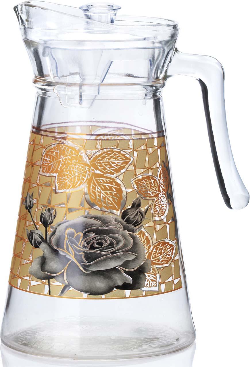 Кувшин выполнен из прочного высококачественного стекла, декорированного красочным рисунком в мягких тонах. Стеклянный кувшин с крышкой предназначен для подачи на стол воды, сока, морса и других напитков, его красивое оформление придется по вкусу всем без исключения. Такой кувшин будет отличным украшением любой кухни! Объем кувшина 1400 мл. Посуда обладает гладкой непористой поверхностью, не впитывает запахи, легко моется.