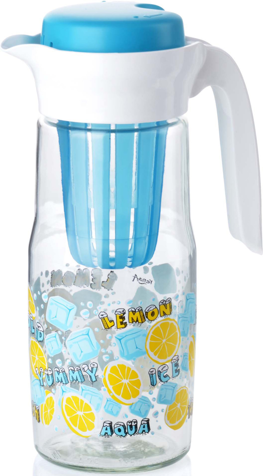 Кувшин Mayer & Boch, выполнен из высококачественного стекла и пластика. Индивидуальный рисунок выполненный на кувшине, придает изыска и оригинальности повседневному предмету. Удобная форма носика и крышка позволяет защитить ваш напиток от попадания излишних запахов в ваш напиток. Подходит для: соков, морсов, компотов и любых интересных для Вас напитков. Кувшин так же имеет удобную ручку, которая упрощает использование его. За счет гладкой поверхности, изделие легко мыть. Подходит для мытья в посудомоечной машине.