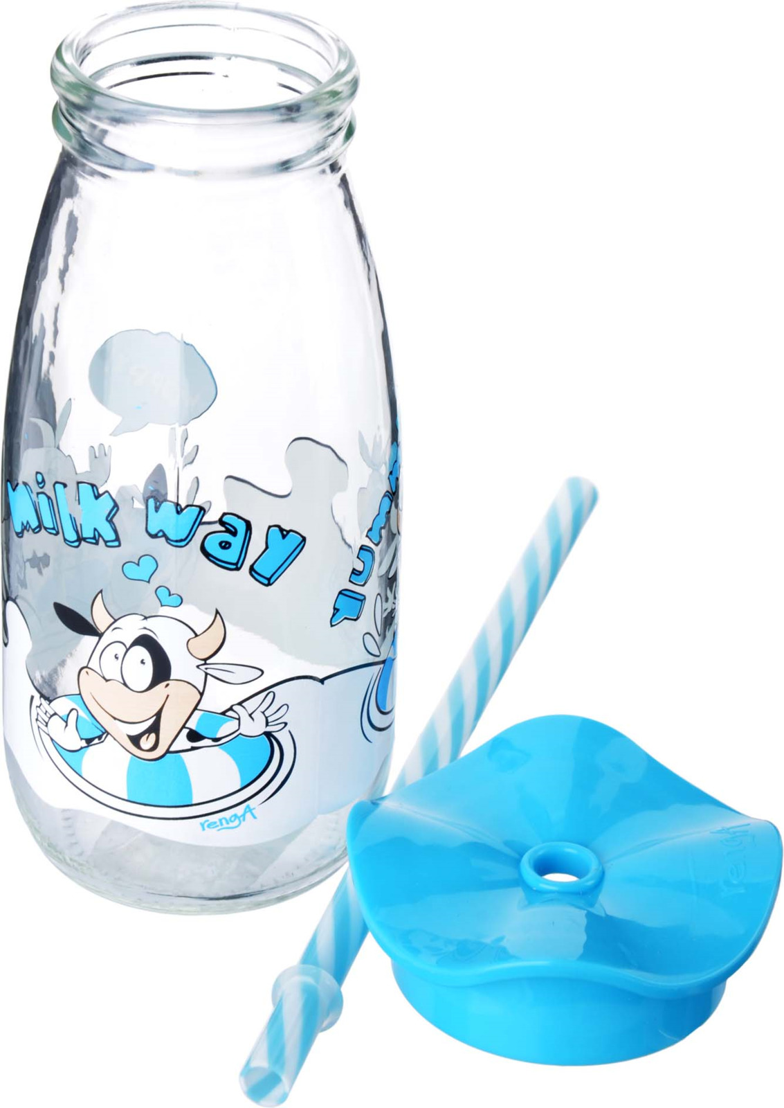 Бутылка для смузи Mayer & Boch, цвет: голубой, 500 мл бутылка для напитков renga с трубочкой 500 мл