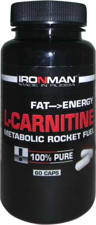 Карнитин Ironman L-Карнитин, 60 капсул l карнитин ironman яблоко 500 мл