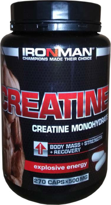 Креатин моногидрат Ironman Creatine, 270 капсул dymatize nutrition моногидрат креатина dymatize creatine micronized 500гр
